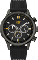 CAT AG MULTI Watch Black Stainless Black/Yellow with Black Silicone Strap