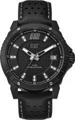 CAT Carbon Blade 3HD Watch Black/Grey with Leather Strap