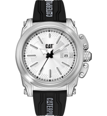 CAT Adventurer Silver Watch w/Silicon band