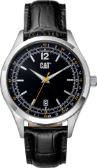 CAT 1904 3HD Watch Black/Yellow - Leather