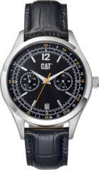 CAT 1904 Multi Watch Black/Yellow with Leather Strap