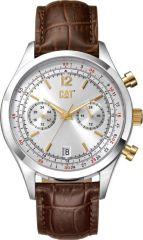 CAT 1904 Multi Watch Silver/Gold with Leather Strap