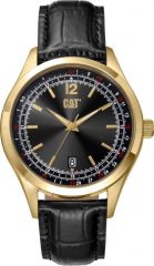 CAT 1904 3HD Watch Black/Gold with Leather Strap