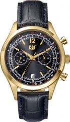 CAT 1904 Multi Watch Black/Gold with Leather Strap