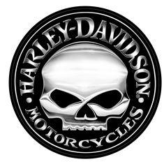 Harley-Davidson® Extra Large Skull Decal