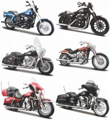1:12 Harley-Davidson Assortment 6 pieces