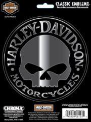 "Harley® Skull  6"" x 8"" Classic Emblemz"