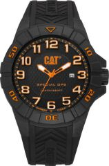 CAT Special Ops 3HD Watch Black/Orange with Silicone Strap