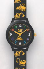 Cat Kids Black with black Silicone Watch