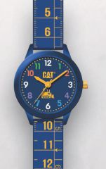 Cat Kids Blue with blue Silicone Watch