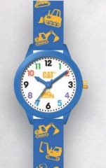 Cat Kids white with blue Silicone Watch