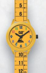 Cat Kids yellow with yellow Silicone Watch