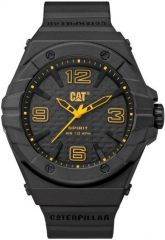 CAT Spirit II 3HD Watch Black/Yellow with Silicone Strap