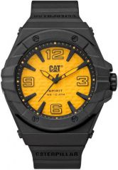 CAT Spirit II 3HD Watch Yellow/Black with Silicone Strap