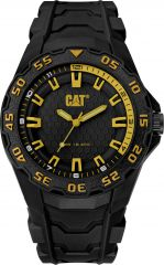 CAT Motion 2020 Watch Black/Yellow with Rubber Strap