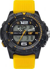 CAT Basecamp Digital Watch Black/Yellow with Silione Strap