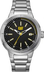 CAT T8 3HD Watch Black/Yellow with Stainless Steel Strap