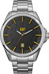 CAT Slate 3HD Watch Sil/Black/Yellow with Stainless Steel Strap