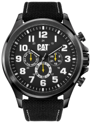 CAT Operator Watch Multi Black/White Nylon Strap