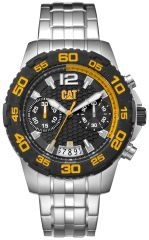 CAT Drive Chrono Watch Black/Yellow with Stainless Steel Strap