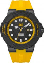 CAT Shockmaster 3HD Watch Black/Yellow with silicone Strap