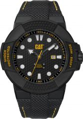 CAT Shockmaster 3HD Watch Black/Yellow with Nylon Strap