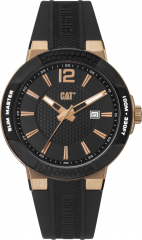 CAT Shockmaster 3HD Slim Black/Rose Gold with Silicone Strap