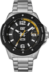CAT Shockmaster Evo 3HD Watch Black with Stainless Steel Strap