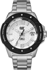 CAT Shockmaster Evo 3HD Watch Silver with Stainless Steel Strap