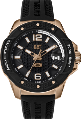 CAT Shockmaster Evo 3HD Watch Black Rose Gold with Silicone Strap