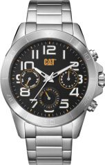 CAT YT Multi Watch Black/Silver with Stainless Steel Strap