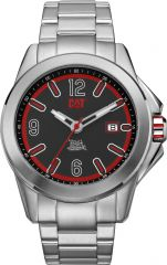 CAT Twist up 3HD Watch Black/Red with Stainless Steel Strap
