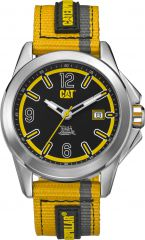 CAT Twist up 3HD Watch Black/Yellow with Nylon Strap
