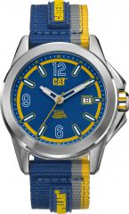 CAT Twist up 3HD Watch Blue/White with Nylon Strap