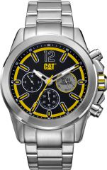 CAT Twist up Multi Watch Black/Yellow with Stainless Steel Strap