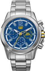 CAT Twist up Multi Watch Blue/White with Stainless Steel Strap
