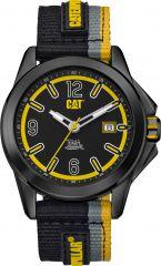 CAT Twist up 3HD Watch BlackBlack/Yellow with Nylon Strap