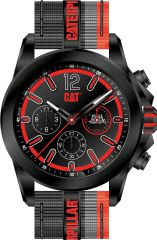 CAT Twist up Multi Watch Black Black/Red with Nylon Strap